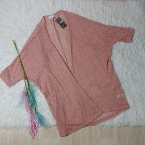 NWT Umgee Dusty Rose Dolman Knit Kimono
